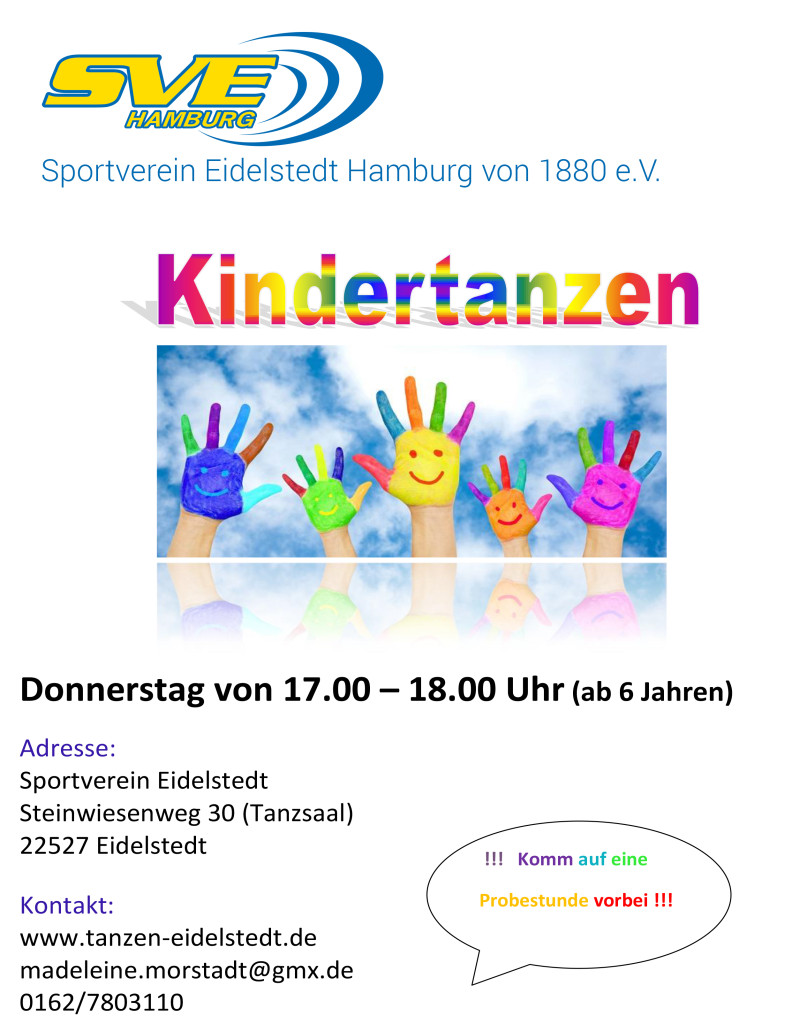 Flyer SVE-Kindertanzen